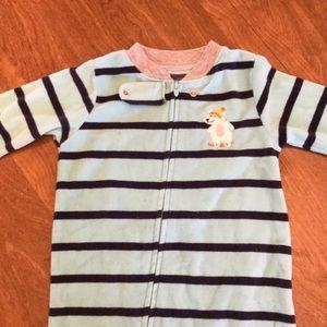 Carters 12 month zip up onesie